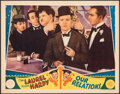 """Movie Posters:Comedy, Our Relations (MGM, 1936). Very Fine-. Lobby Card (11"""" X 14""""). Comedy.. ..."""