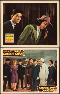 """Shadows over Chinatown & Other Lot (Monogram, 1946). Very Fine. Lobby Cards (2) (11"""" X 14""""). Mystery..."""
