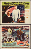 """Movie Posters:Horror, The Strange Door & Other Lot (Universal International, 1951). Fine+. Title Lobby Card & Lobby Card (11"""" X 14"""") Joseph Smith ... (Total: 2 Items)"""