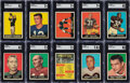 Football Cards:Sets, 1961 Topps Football Complete Set (198). Offered is...