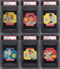 Baseball Cards:Lots, 1951 Fischer's Baking Bread Labels PSA-Graded Collection (...