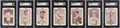 Baseball Cards:Sets, 1913 National Game (49/54) with Box & Tom Barker (6) Colle...