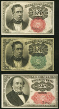 Fractional Currency:Fifth Issue, Fr. 1264 10¢ Fifth Issue Very Fine;. Fr. 1266 10¢ Fifth Issue Very Fine;. Fr. 1309 25¢ Fifth Issue Extremely Fine.. ... (Total: 3 notes)