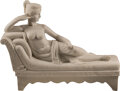 Sculpture, An Italian Carved Marble Figure of Pauline Borghese as Venus Victrix after Antonio Canova, 20th century. 31 x 42 x 10 inches...