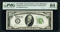Small Size:Federal Reserve Notes, Fr. 2002-E $10 1928B Dark Green Seal Federal Reserve Note. PMG Choice Uncirculated 64.. ...