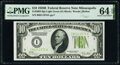 Small Size:Federal Reserve Notes, Fr. 2002-I $10 1928B Light Green Seal Federal Reserve Note. PMG Choice Uncirculated 64 EPQ.. ...