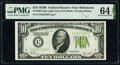 Small Size:Federal Reserve Notes, Fr. 2002-E $10 1928B Light Green Seal Federal Reserve Note. PMG Choice Uncirculated 64 EPQ.. ...