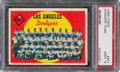 Baseball Cards:Singles (1950-1959), 1959 Topps Los Angeles Dodgers Team #457 PSA Mint 9 - Only...