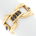Estate Jewelry:Rings, Reign Sapphire, Gold Ring Stones: Round-cut s...
