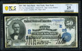 National Bank Notes:New York, New York, NY - $50 1902 Date Back Fr. 667 The First National Bank Ch. # (E)29 PCGS Banknote Very Fine 25 Details.. ...