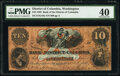 Washington, DC- Bank of the District of Columbia $10 Nov. 1, 1858 G10a PMG Extremely Fine 40
