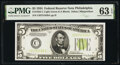 Small Size:Federal Reserve Notes, Fr. 1955-C $5 1934 Light Green Seal Federal Reserve Note. ...