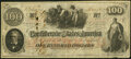 Confederate Notes:1862 Issues, T41 $100 1862 PF-13 Cr. 321A Fine.. ...