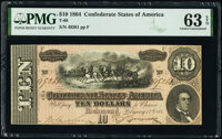T68 $10 1864 Two Examples. PMG Choice Uncirculated 63 EPQ. ... (Total: 2 notes)