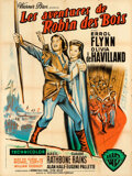 """Movie Posters:Swashbuckler, The Adventures of Robin Hood (Warner Bros., R-1950s). Folded, Very Fine-. French Grande (47.25"""" X 63"""").. ..."""
