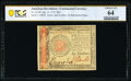 Colonial Notes:Continental Congress Issues, Continental Currency January 14, 1779 $60 PCGS Banknote Choice Unc 64.. ...