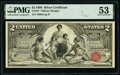 Large Size:Silver Certificates, Fr. 247 $2 1896 Silver Certificate PMG About Uncirculated ...