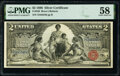 Large Size:Silver Certificates, Fr. 248 $2 1896 Silver Certificate PMG Choice About Unc 58.. ...