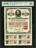 Miscellaneous:Other, Third Liberty Loan 4 1/4% Gold Bond of 1928 $100 May 9, 1918 PMG About Uncirculated 53.. ...