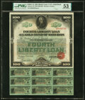 Miscellaneous:Other, Fourth Liberty Loan 4 1/4% Gold Bond of 1933-38 $100 Oct. 24, 1918 PMG About Uncirculated 53.. ...