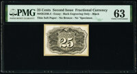 Milton 2E25R.4 25¢ Second Issue Essay Back PMG Choice Uncirculated 63