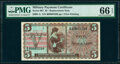 Series 661 $5 Replacement PMG Gem Uncirculated 66 EPQ