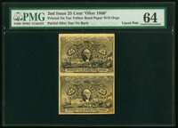 Similar to Milton 2E25F.3a 25¢ Second Issue Olier Paper PMG Choice Uncirculated 64
