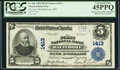 Bank Officer Signatures Offset on Face and Back Error Baltimore, MD - $5 1902 Plain Back Fr. 606 The First NB<