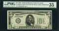 Fr. 1956-H* $5 1934 Dark Green Seal Mule Federal Reserve Star Note. PMG Choice Very Fine 35