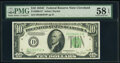 Small Size:Federal Reserve Notes, Fr. 2008-D* $10 1934C Wide Federal Reserve Star Note. PMG ...
