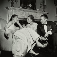 Slim Aarons (American, 1916-2006) Park Avenue Party: Slim Hawks, Diana Vreeland, and Reed Vreeland at Kitty Miller's New...