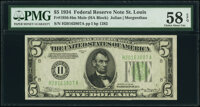 Fr. 1956-H $5 1934 Mule Federal Reserve Note PMG Choice About Unc 58 EPQ
