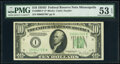 Small Size:Federal Reserve Notes, Fr. 2009-I* $10 1934D Federal Reserve Star Note. PMG About...