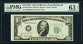 Small Size:Federal Reserve Notes, Fr. 2010-E* $10 1950 Wide Federal Reserve Star Note. PMG Choice Uncirculated 63 EPQ.. ...