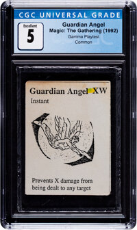 Magic: The Gathering Guardian Angel Gamma Playtest Edition (Magic: The Gathering, 1992) CGC Excellent 5
