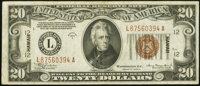 Fr. 2305 $20 1934A Hawaii Federal Reserve Note. Very Fine