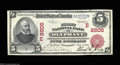 National Bank Notes:Pennsylvania, Olyphant, PA - $5 1902 Red Seal Fr. 589 First NB Ch. # ...