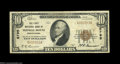 National Bank Notes:Pennsylvania, Shingle House, PA - $10 1929 Ty. 1 The First NB Ch. # ...