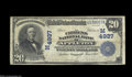 National Bank Notes:Wisconsin, Appleton, WI - $20 1902 Date Back Fr. 648 The Citizens ...
