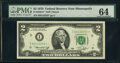 Small Size:Federal Reserve Notes, Fr. 1935-I* $2 1976 Federal Reserve Star Note. PMG Choice Uncirculated 64;. Fr. 2002-G; G* $10 1928B Federal Reserve Notes... (Total: 3 notes)