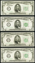 Small Size:Federal Reserve Notes, $5 Federal Reserve Notes.. Fr. 1959-F 1934C Wide Face Choice CU;. Fr. 1959-G 1934C Wide Face Choice CU;. Fr. 1959-... (Total: 4 notes)