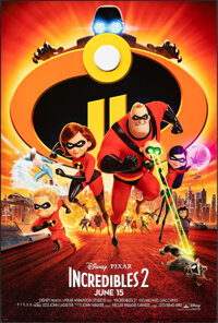 """Incredibles 2 (Walt Disney Studios, 2018). Rolled, Very Fine+. One Sheet (27"""" X 40"""") DS Advance. Animation..."""