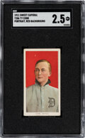 Baseball Cards:Singles (Pre-1930), 1909-11 T206 Sweet Caporal 350-460/42OP Ty Cobb (Portrait-Red) SGC Good+ 2.5....