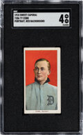 Baseball Cards:Singles (Pre-1930), 1909-11 T206 Sweet Caporal 350/30 Ty Cobb (Portrait-Red) SGC VG/EX 4....