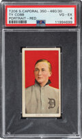 Baseball Cards:Singles (Pre-1930), 1909-11 T206 Sweet Caporal 350-460/30 Ty Cobb (Portrait-Re...