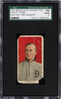 Baseball Cards:Singles (Pre-1930), 1909-11 T206 Broad Leaf 460 Ty Cobb (Portrait-Red) SGC 10 Poor 1--Only Two SGC-Graded Examples! ...