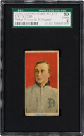 Baseball Cards:Singles (Pre-1930), 1919 T213 Coupon Cigarettes (Type 3) Ty Cobb (Portrait-Factory No. 8 Overprint) SGC 30 Good 2--Only Graded Example!...