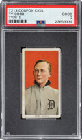 Baseball Cards:Singles (Pre-1930), 1910 T213 Coupon Cigarettes (Type 1) Ty Cobb (Portrait-Red) PSA Good 2 - Pop Two, None Higher. ...