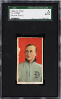 Baseball Cards:Singles (Pre-1930), 1909-11 T206 Blank Back Ty Cobb (Portrait-Red) SGC Authentic....