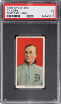 Baseball Cards:Singles (Pre-1930), 1909-11 T206 Cycle 350 Ty Cobb (Portrait-Red) PSA VG 3 - Pop One, One Higher....